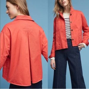 CHINO BY ANTHROPOLOGIE SWING CORAL JACKET SZ S